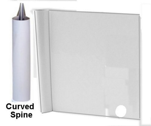 Zutter 7544 7-1/2 by 5-Inch Curved Spine Cover-All for 1-Inch Owire, White