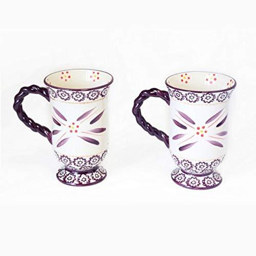 (Temp-tations Old World Eggplant Purple Footed Pedestal Coffee Cafe Mugs Retired!)