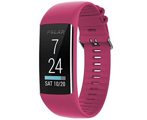Polar A370 Fitness Tracker with 24/7 Wrist Based Heart Rate Monitor, Pink, - Hearts Pink Camera