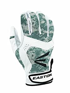 Easton Youth Stealth Core Batting Glove, White/Digi Camouflage, Small