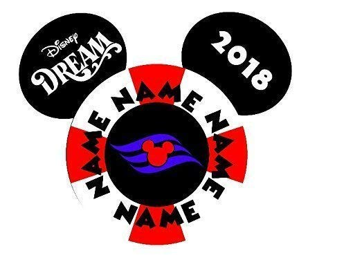 LARGE Personalized Disney Lifesaver Mickey Inspired Magnet for Disney Cruise with your Name -