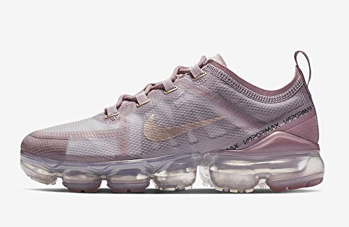 Nike Women's Air Vapormax 2019 Plum Chalk/Metallic Red Bronze/Plum Dust/White Mesh Cross-Trainers Shoes 8.5 M US - Opaque Red Bronze