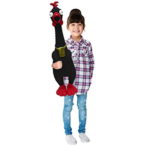 Animolds Hug Me Giant Rubber Chicken- Huge Screaming Rubber Chicken Toy for Kids Novelty Extra Large Squeaky Toy | Our Biggest Chicken Yet! (Random Color)