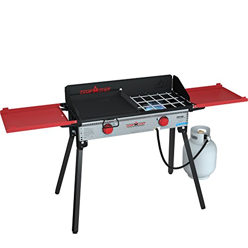 Pro Griddle - Camp Chef PRO60X Two-Burner Camp Stove with Professional SG30 Griddle - Bundle