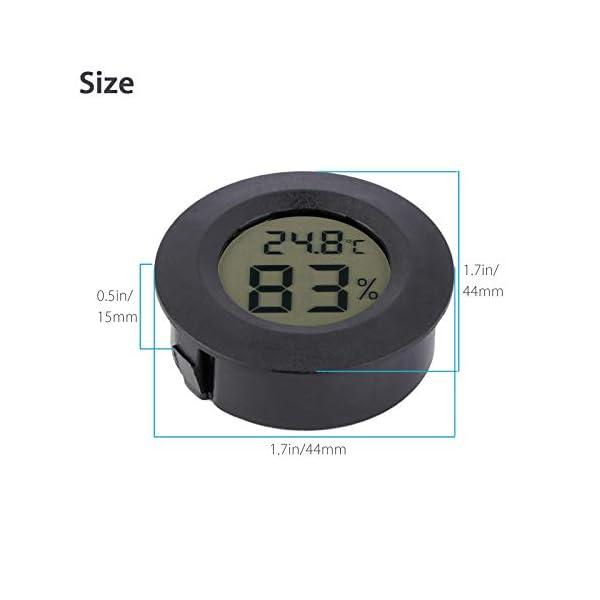 Thlevel 3PCS Mini LCD Digitale Termometro Igrometro Temperatura Umidità Misuratore 4