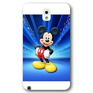 Customized White Hard Plastic Disney Cartoon Mickey Mouse Samsung Galaxy Note 3 Case