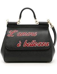 Women's BB6002AU32480999 Black Leather Handbag