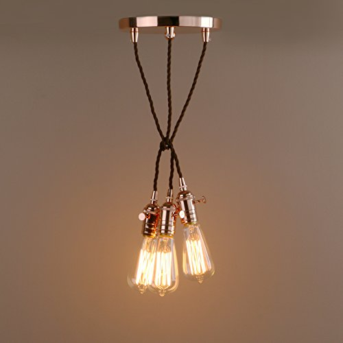 Copper Cluster Pendant Light