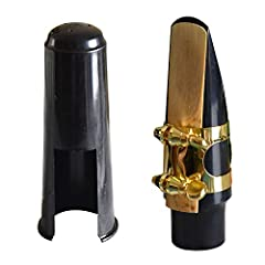 Specifications: Material: PVC,Brass Color: Black,Gold Item weight: 150g Features: 1.Application for alto sax, made of high-quality PVC Plastic and brass. 2.With gold metal ligature, offers secured holding of the reed 3.Equipped with a plastic...