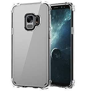 Galaxy S9 Case, S9 Clear Ultra Slim Scratch-Resistant Shockproof Protective Case Cover For Galaxy S9 (Black)