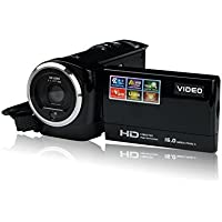 LWD Portable Digital Video Camcorder HD Max. 16.0 Megapixels 1280720P DV 2.7 Inches TFT LCD Screen 16X Zoom Camera Recorder (Black)