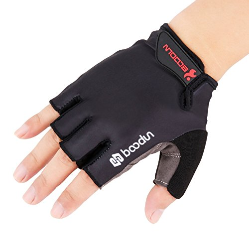 Boodun Cycling Gloves With Shock Absorbing Foam Pad