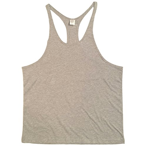 nvw Mens Muscle Stringer Tanktop Small Grey