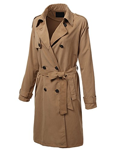 Double Breasted Nylon Trench Coat - 6