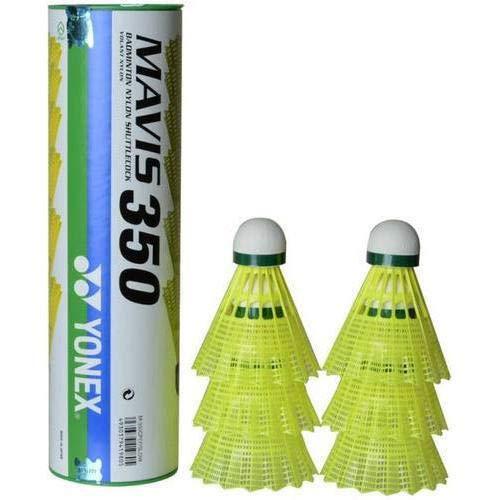 (Yonex Yones Mavis 350 Blue Cap Nylon Shuttlecock- Yellow)