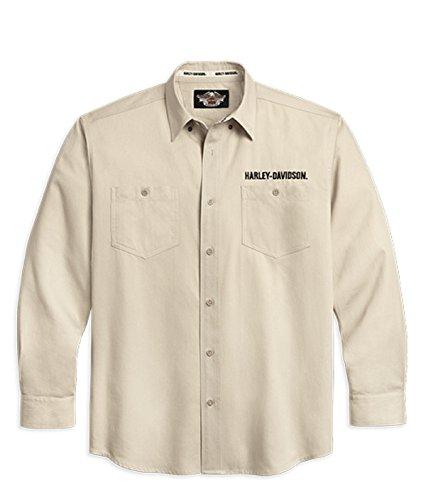 Harley-Davidson Woven Shirt, stone 99001-11VM Herren Shirt