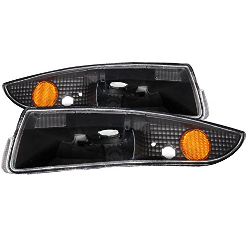 Anzo USA 511045 Chevrolet Camaro Black Bumper Light Assembly with Amber Reflector - (Sold in Pairs)