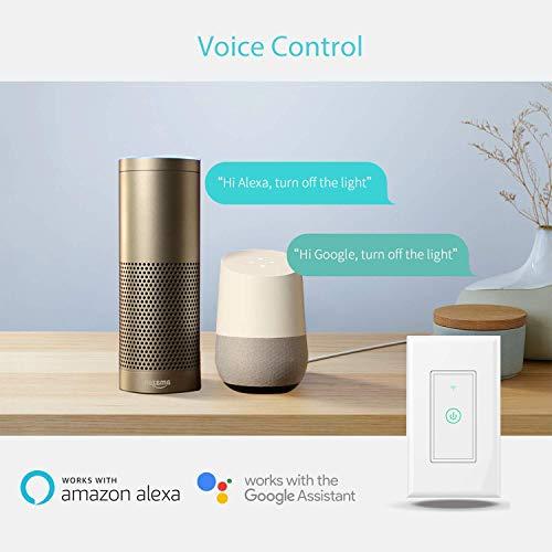 meross Smart Wi-Fi Wall Light Switch, Amazon Alexa and