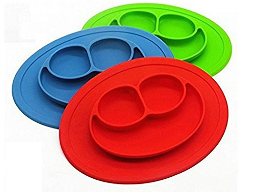 Smiles Lunch - Silicone material Baby Dining plate health Lovely smile face lunch tableware