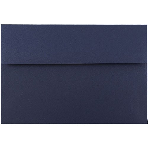 - JAM PAPER A8 Premium Invitation Envelopes - 5 1/2 x 8 1/8 - Navy Blue - 50/Pack