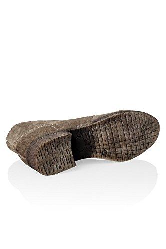 Hachiro Damen Schnürstiefelette aus Wildleder Leder 2 Farben Braun