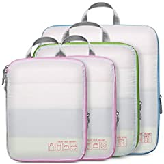 Cambond Compression Packing Cubes The Cambond compression packing cubes are great for travel! With the compression zipper, it can help you compress your clothes as much as possible and save space for your suitcase or backpack. And it keep clo...