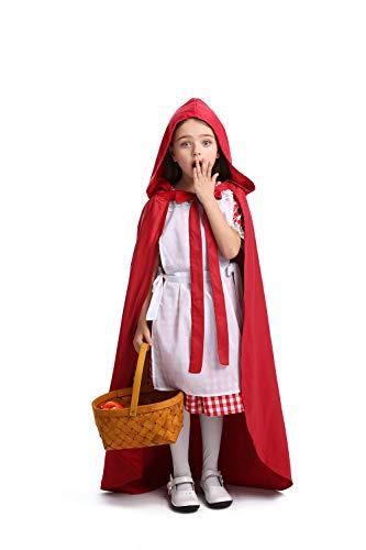 Cuteshower Girl Little Red Riding Hood Costume