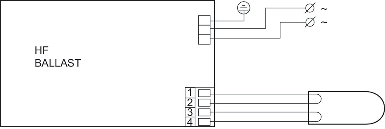 Philips elektronisches Vorschaltgerät EVG HF-P 122-18/22/24/26/30/40 ...