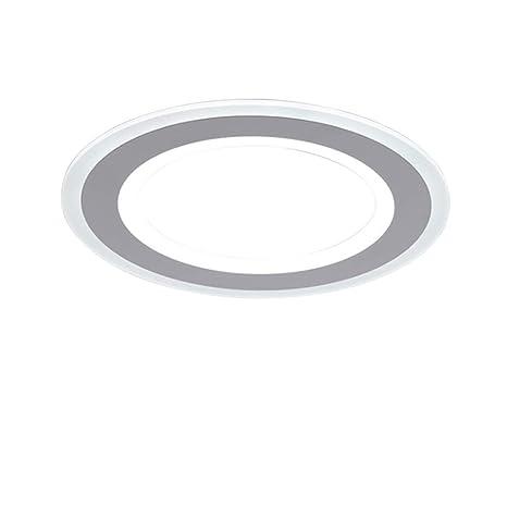 Amazon.com: Lámpara de techo redonda para dormitorio, LED de ...