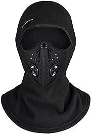 ROCKBROS Winter Face Mask Filter Ski Mask Balaclava Men Women Thermal Mask for Cycling Skiing Snowmobile Black