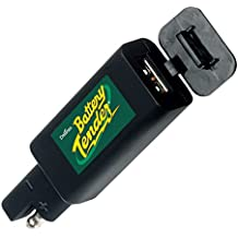 Battery Tender 081-0158 Black Quick Disconnect Plug with USB Charger. Perfect for Charging your iPhone, iPad, iPod, GPS, Camera or any Smartphone or Device that be Charged via USB