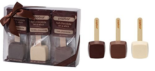 Hot Chocolate on a Stick - 3 Pack Variety Gift Box - Dark, Milk, Vanilla White Chocolate