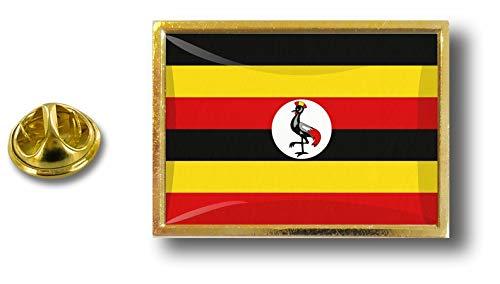 Badge con clip metallo Pin Flag Ugandan farfalla Perno in a Akacha Pin Uganda wYTHxqE0