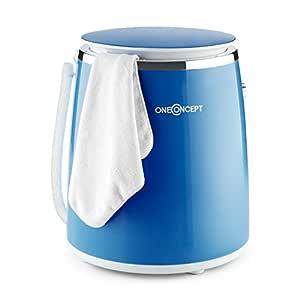 oneConcept Ecowash-Pico • lavadora • minilavadora • lavadora para acampar • carga superior • con función centrífuga • para 3,5 kg de ropa • 380 W • ...