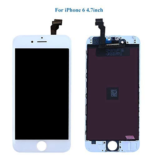 HTECHY Compatible with iPhone 6 Screen Replacement White- Compatible for iPhone 6 Digitizer LCD Touch Screen Display Assembly with Complete Repair Tools Kit Including Screen Protector(4.7 Inch) by HTECHY (Image #2)