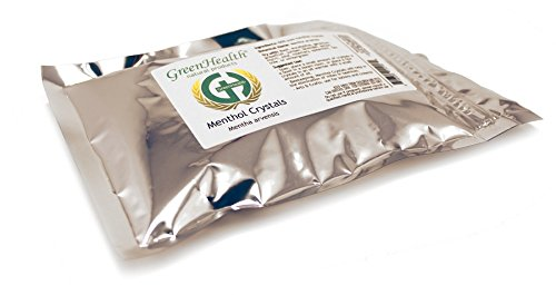 Premium Menthol Crystals 1lb (16oz) Packaged in a Food Grade Metallized Poly Bag(Melting Point is Approximately 95 to 107 Degrees F)