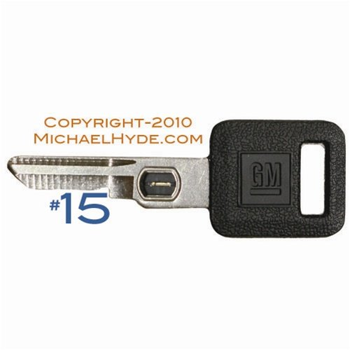 595525 GM VATS Key - Single Sided #15 Strattec, Buick, Cadillac, Chevy, Olds, Pontiac