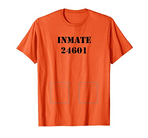 Prisoner, Prison Inmate Costume Tshirt - Easy Halloween Idea ()
