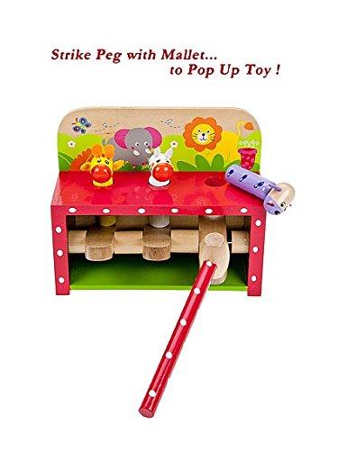 Baby Peg Toys : Toddler wooden toy safari animal pop up peg pounding
