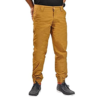 Dirty Robbers Men's Chino Zip Fly Button Jogger Pants