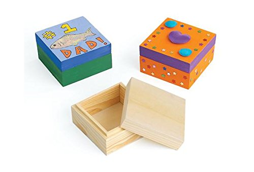 Colorations Wooden Trinket Boxes (Set of 12) by Colorations