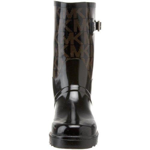 Michael Michael Kors Women's MK Logo Mid Rainboot Boot, Black, 6 M US