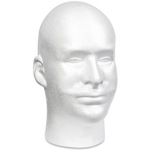 Floracraft Styrofoam Head EPS Male Bulk, White (Male Heads)