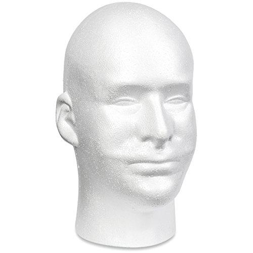 Floracraft Styrofoam Head EPS Male Bulk, -