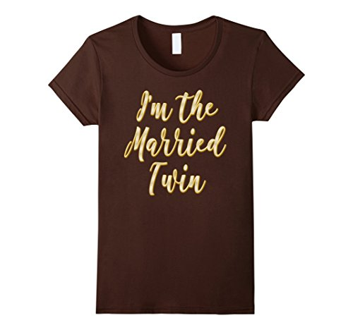 Womens I'm the Married Twin Tshirt great Christmas gift idea Medium (Tailgating Ideas)