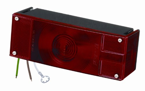 Wesbar Lens (Wesbar 403076 Waterproof Over 80-Inch Low Profile Taillight (passenger side))