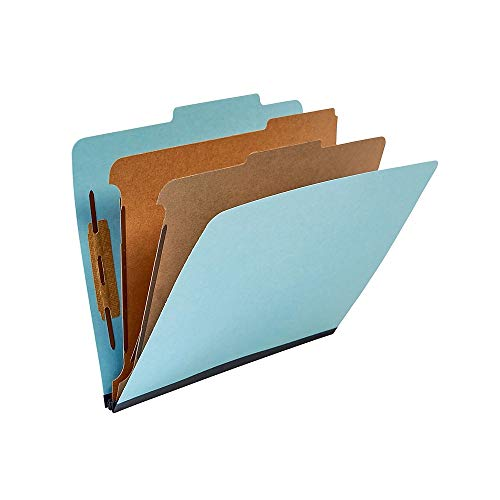 (Staples Recycled Classification Folders, Letter, 2 Partitions, Blue, 20/Box)