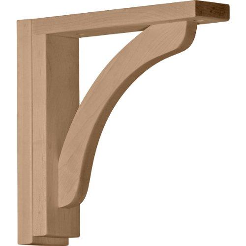 Ekena Millwork BKT02X10X10REMA  2 1/2-Inch W by 10 3/4-Inch D by 10 1/4-Inch H Reece Shelf Bracket, Maple