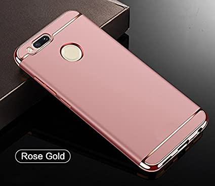 uk availability 964a7 28e1d SPL New Chrome 3IN1 Luxury Full Body Protective Back Cover for Xiaomi Mi A1  (Rose Gold)