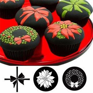 Autumn Carpenter Cupcake and Cookie Texture Tops (Christmas) - 7
